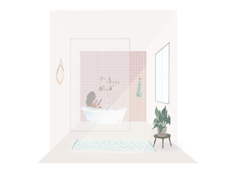 Slef love in a tub